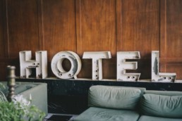 hotel business sign