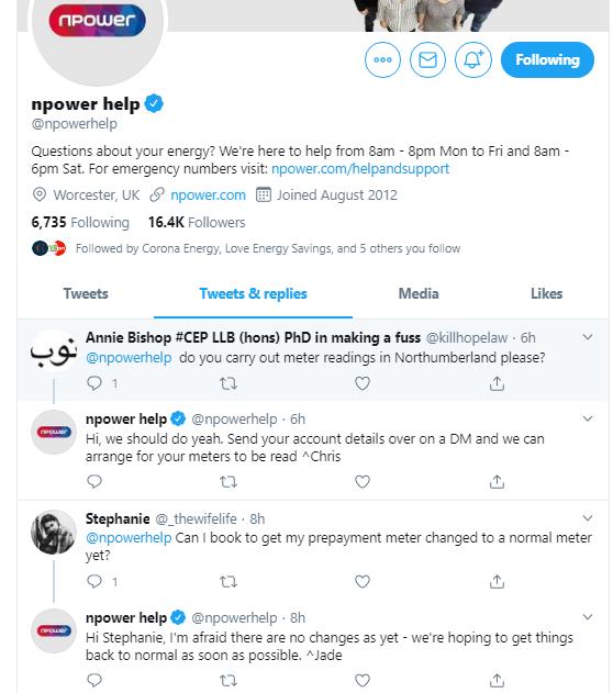 npower twitter
