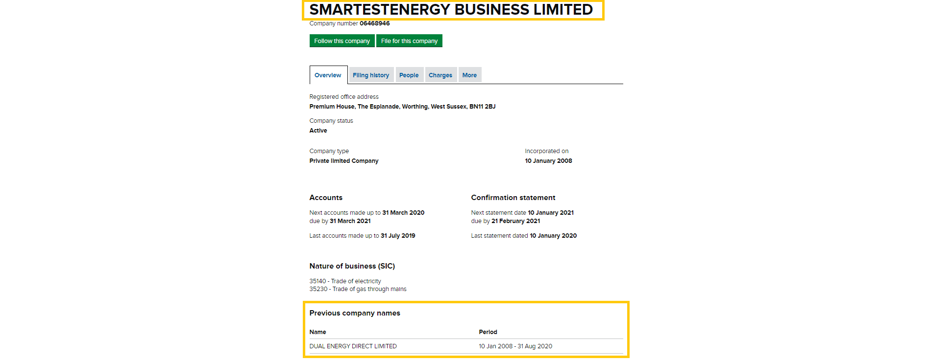 dual energy changed company name to smartestenergy